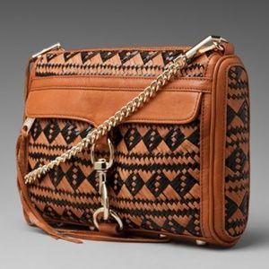 Rebecca Minkoff Woven Cross Body Mac Bag